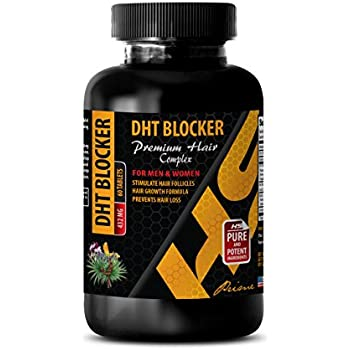 hair growth support vitamins - DHT BLOCKER - PREMIUM HAIR COMPLEX - FOR MEN AND WOMEN - zinc supplement hair skin - 1 Bottle 60 Tablets