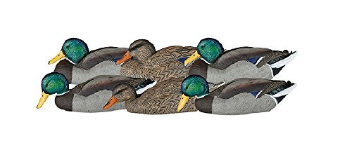 Dakota Decoy 12130 X'Treme Floating Mallard Dabbler Decoys 6 Pack