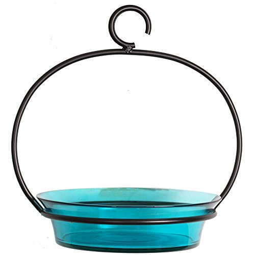 Mosaic Birds M337-200-09 Cuban Hanging Bird Bath or Feeder Aqua (Platform Small Feeder Hanging)