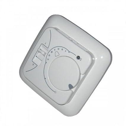 Termostato regulador de 110, para Electr. Calefacción por suelo radiante, termostato empotrado,