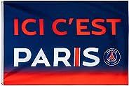 PSG - Official Paris Saint-Germain 'Here It's Paris' Flag