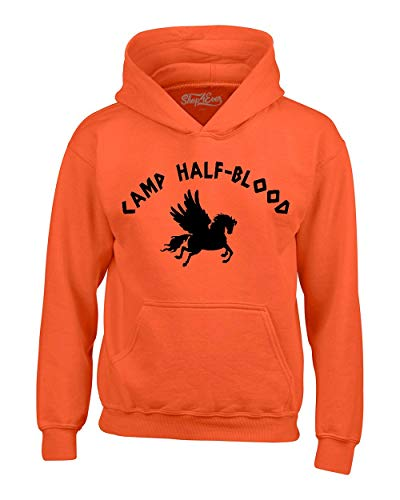 Shop4Ever Camp Half Blood Hoodie Sweatshirts Medium Orange 0