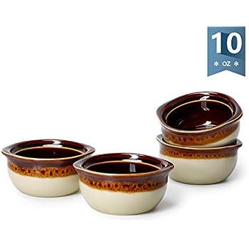 Amazon Com Porcelain Ceramic Onion Soup Crock Bowl