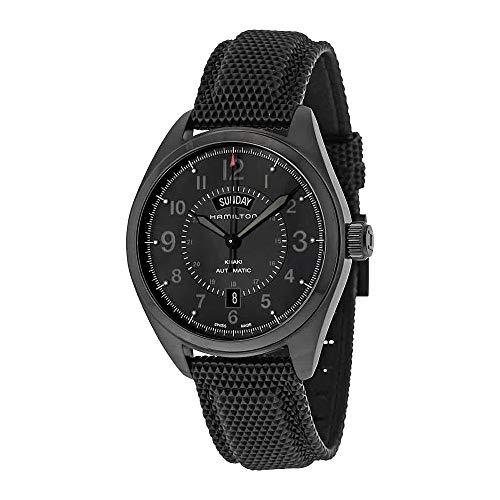 - Hamilton Men's H70695735 Khaki Field Day Date Black Automatic Watch