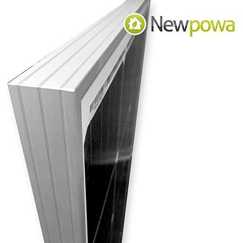 Newpowa Solarmodul 180Watt 12V Monokristallines mit hohem Wirkungsgrad Mono-cell