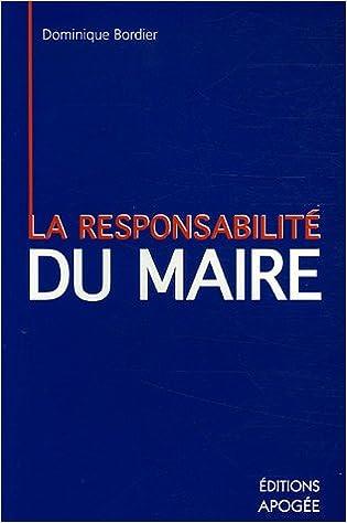 Livres La responsabilité personnelle du maire pdf