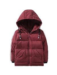 LJYH Girls Down Jackets Boys Hooded Down Coat Winter Outwear Coat 3-12 Years Old