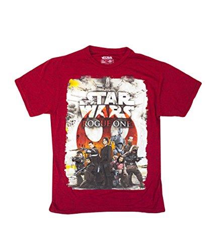 Star Wars Rogue One Rebel Team T-Shirt Medium (Star Wars Rogue Squadron Ii Rogue Leader Gamecube)