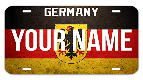 Bleu Reign Personalized Custom Name License Germany Flag Country Plate 12