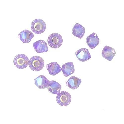 100 pcs 6mm Swarovski 5301 Crystal Bicone Beads, Violet Opal AB2X, SW-5301 (Beads Bicone 5301 Crystal)