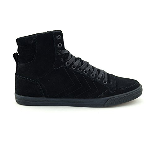 Hummel - Zapatillas de Lona para hombre negro Black (Schwarz)
