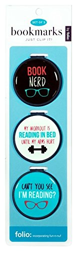 just-clip-it-quote-bookmarks-set-of-3-clip-over-the-page-markers-book-nerd-my-workout-is-reading-in-