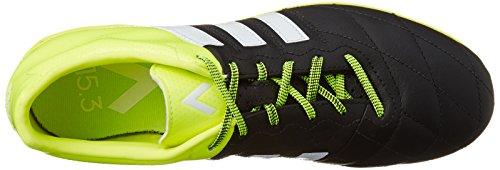 adidas Ace 15.3 IN Leather - Botas para hombre Negro / Lima / Blanco