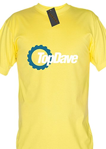 Renowned ropa Top Dave – Parte superior Gears parodia unisex-children T Shirt amarillo