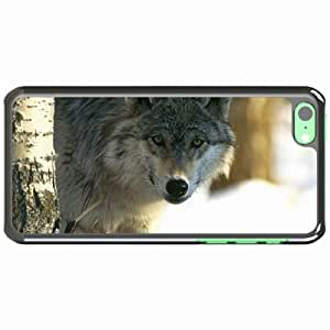 iPhone 5C Black Hardshell Case eyes predator blurring Desin Images Protector Back Cover