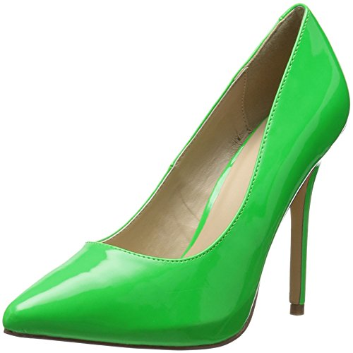 Image of Pleaser Women's Amu20/ngn Platform Pump, Neon Green Patent, 11 M US