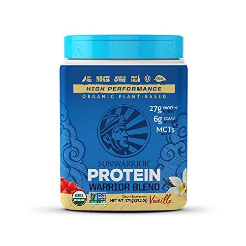 Sunwarrior – Warrior Blend, Plant Based, Raw Vegan Protein Powder with Peas & Hemp, Vanilla, 15 Servings