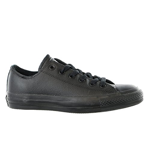 CONVERSE Unisex Chuck Taylor All Star Ox Fashion Sneaker Leather Shoe - Black Mono - Mens - 4.5