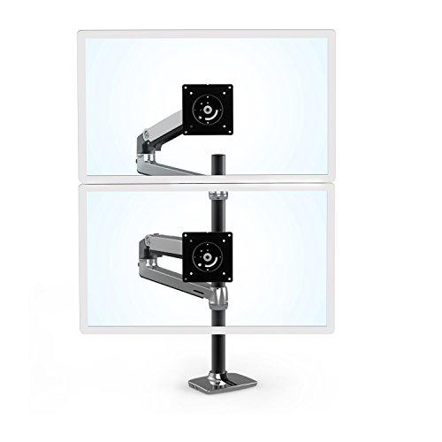 Ergotron 45-549-026 Lx Dual Stacking Arm Tall Pole ()