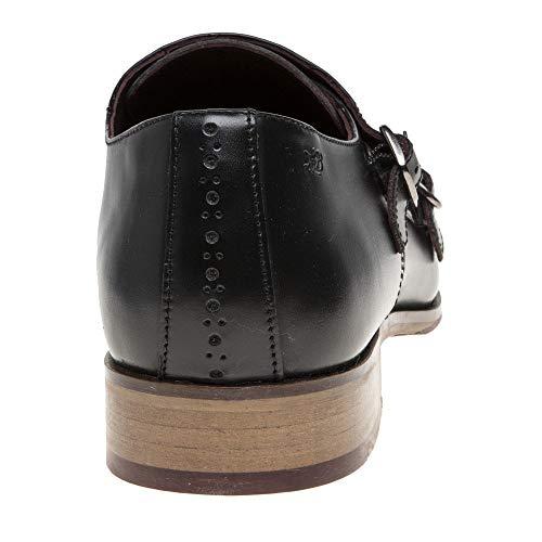 Wister London Brogues Hommes Chaussures Noir Monk 5qgwvq
