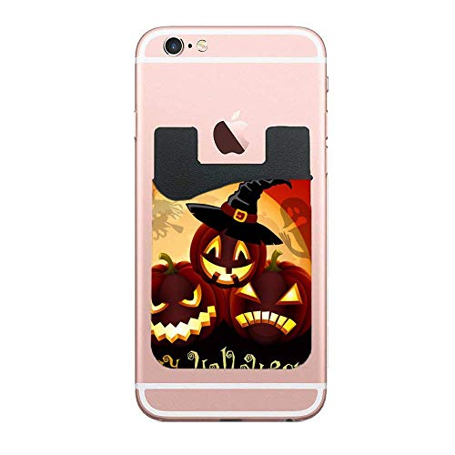 3M Card Holder Stick on Wallet, Credit Holder Card Sleeves for Smartphones, iPhone, Galaxy Halloween Event -