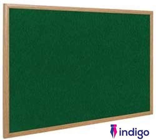 600 x 400 mm con cornice in legno Bacheca reversibile in sughero e feltro Indigo/®