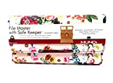 Women's Faux Leather Mundi Fat WALLET Ladies FILE MASTER Organizer One Size i659x (Floral)