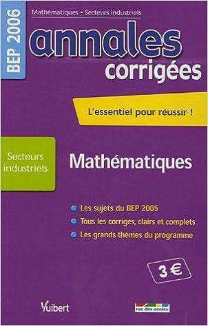 Mathématiques BEP Secteurs industriels pdf, epub ebook