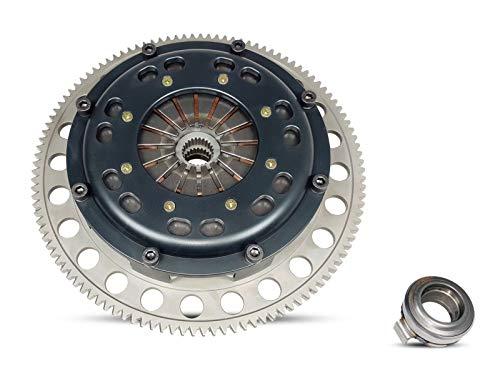 Racing Clutch Twin Disc Kit Works With Honda Civic Si Del Sol Vtec Cr-V Acura Integra Ex Lx Se Gs Gs-R Ls 1994-2001 1.6L L4 1.8L L4 2.0L L4 Gas ()