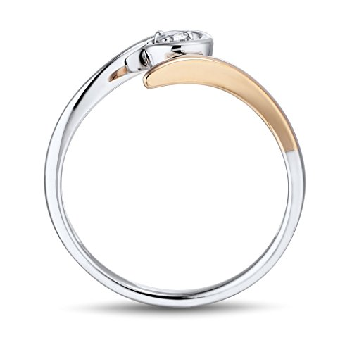 promise ring in 10k gold and rhodium plated