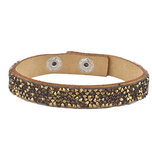 Lux Accessories Tan Assorted Stones Studded Thin Suede Wrap Bracelet Suede Fashion Bracelet