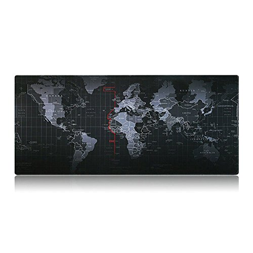 Deluxe Note Jotter Organizer (Shalleen World map pattern Large Mouse Pad anti slip office desk pad 8030CM)