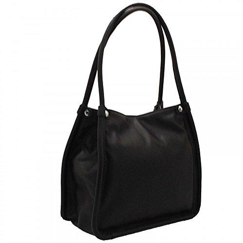 Textured Fringe Detail Grab Handbag Abro Black Multi BC6qOp