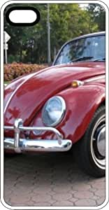 Classic Volkswagen Beetle Bug White Plastic Case for Apple iPhone 6 Plus