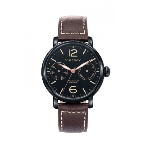 Watch Viceroy 471047-55 Black Male Leather Multifunction