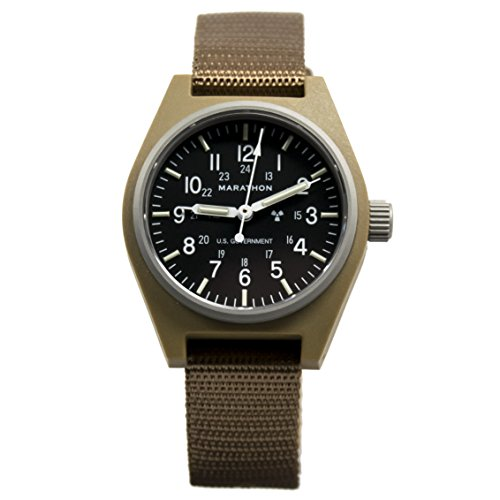MARATHON WW194003DT General Purpose Mechanical (GPM) Military Field Watch with Tritium and Sapphire Glass. (Desert Tan) For Sale