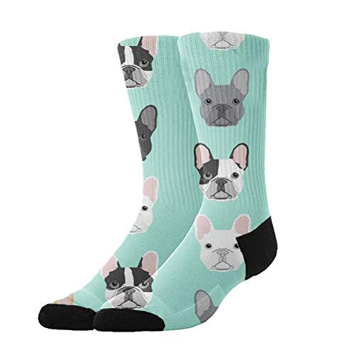 KYWYN Athletic Socks French Bulldog Dog 3D Compression