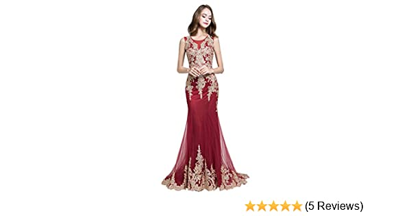 Amazon.com  anmor Women s Sexy Mermaid Prom Dresses Long Beaded Bodice  Evening Ball Gowns Luxury  Clothing a63eafd974e1