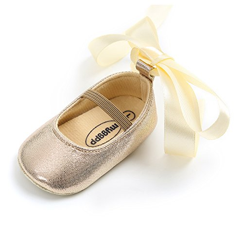 Silk Baby Shoes - Baby Girls Ballet Flats Soft Sole Infant Mary Janes Toddlers Princess Dress Shoes with Silk Ribbon