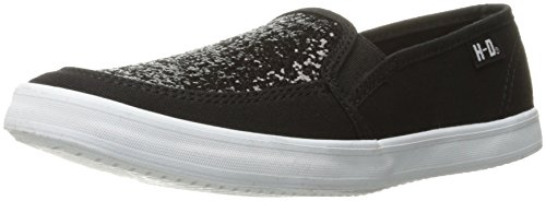 Harley-Davidson Women's Mading Fashion Sneaker, Black, 9 M US