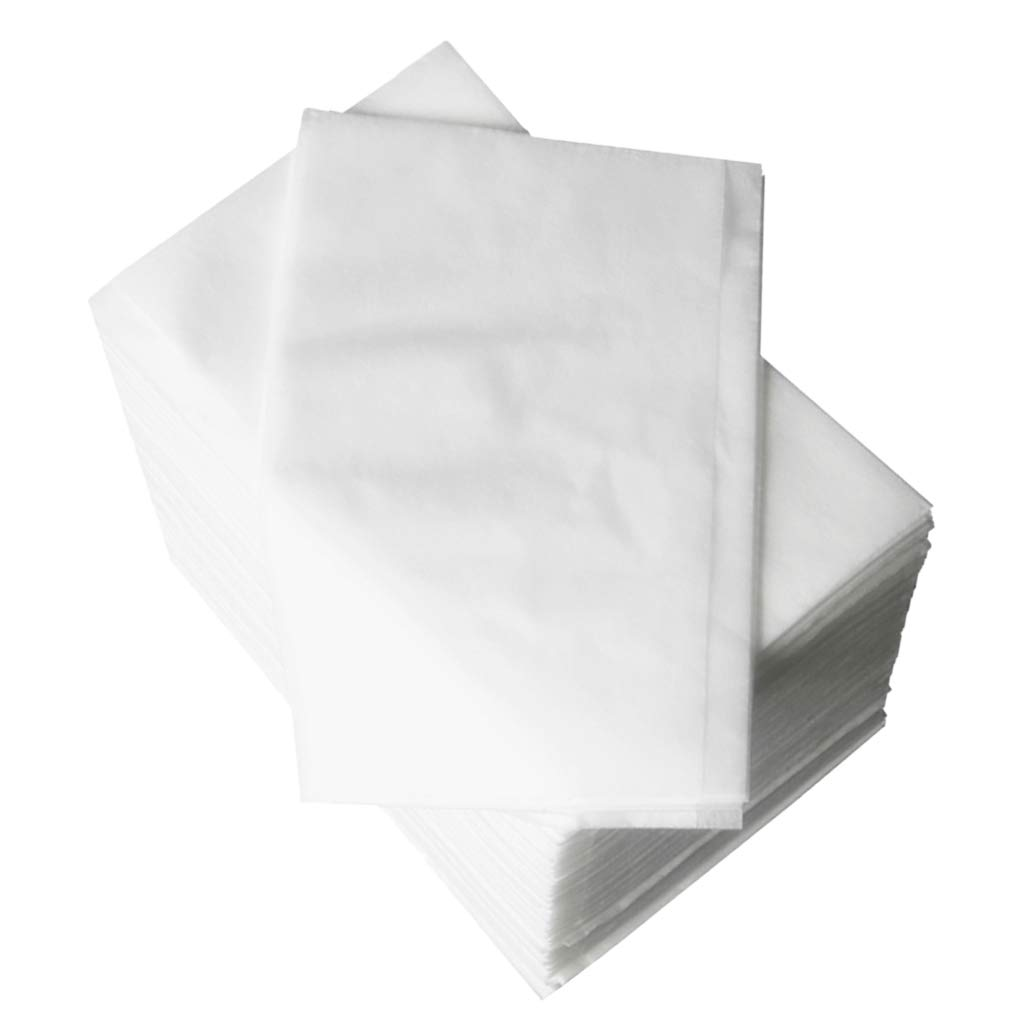 Pack of 100 Nonwoven Disposable Bed Sheet Paper for Incontinence, Massage Table Sheet, Facial Beauty, Wax Chair Covers - White by Prettyia