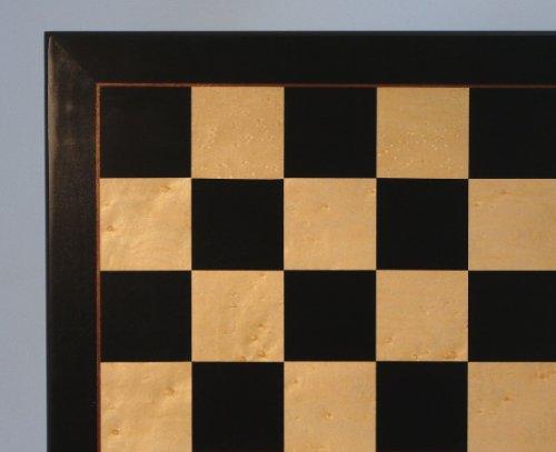 World Wise Imports 22 in. Black & Birdseye Maple Veneer Chess Board
