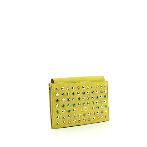 PATRIZIA PEPE Clutch Yellow DEGRAD Strass PATP.2V6904/AT85