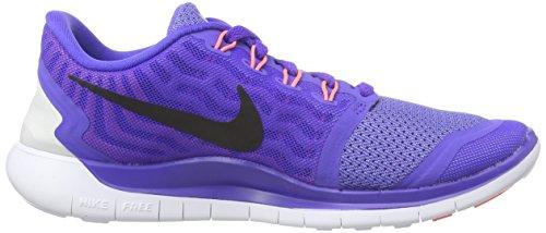 Nike Women's Free 5.0+ Laufschuh Prsn Violet / Schwarz-Aluminium-Fuchsia Glow