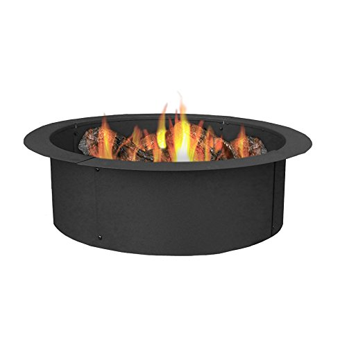 Sunnydaze Durable Steel Fire Pit Ring/Liner, DIY Fire Pit Rim Above or In-Ground, 33 Inch Outside Diameter, 27 Inch Inside Diameter For Sale