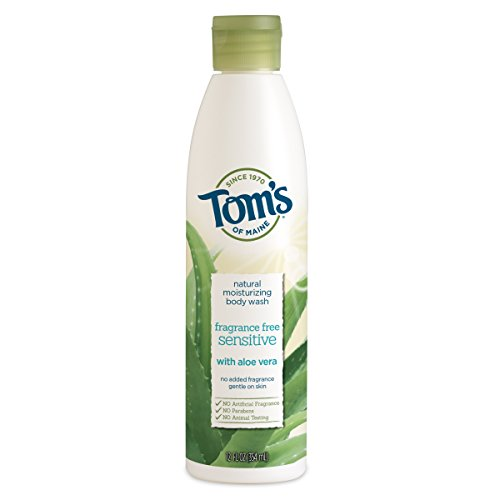 Tom's of Maine Natural Moisturizing Body Wash Soap with Aloe Vera, Fragrance Free, 12 oz ()