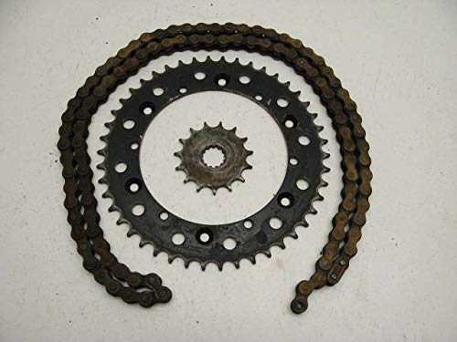 Yamaha TT500 TT 500#2296 Front & Rear Sprocket/Counter Shaft Sprocket & Chain