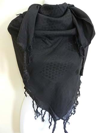 Plain Black Arab Shemagh Head Scarf Neck Wrap Arafat Keffiyah Desert Army Wear Value