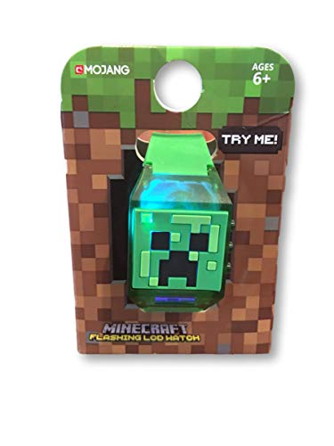 Minecraft Kids LED Flashing Wrist Watch Green