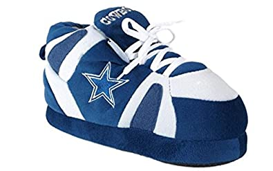 588a3b51ab80 Image Unavailable. Image not available for. Colour  DAL01-3 - Dallas Cowboys  - Large - Happy Feet   Comfy Feet NFL Slippers